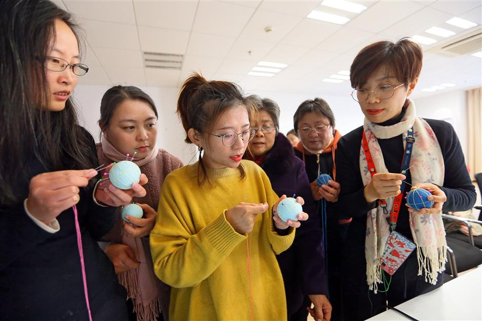 Course aims to revive temari skill in Songjiang