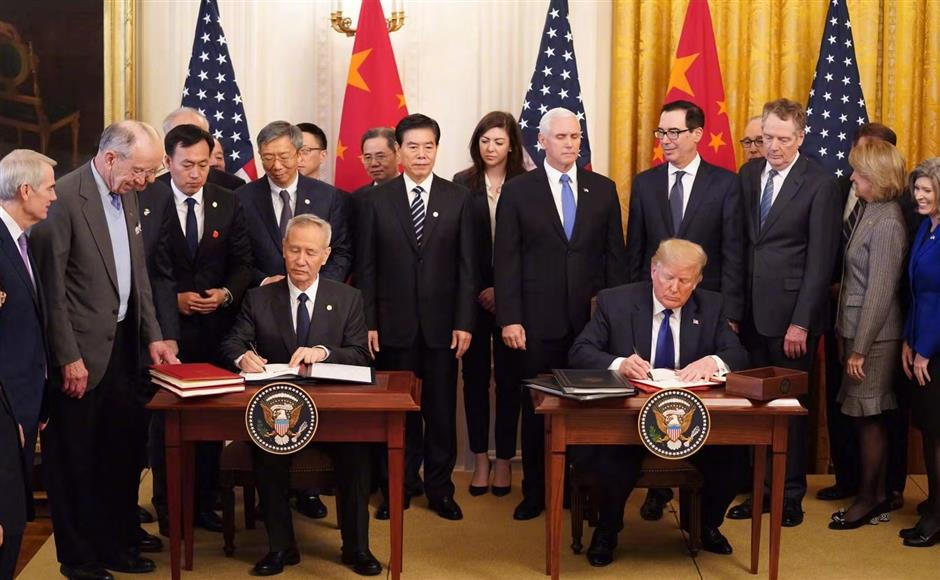 China, United States sign phase-one trade deal
