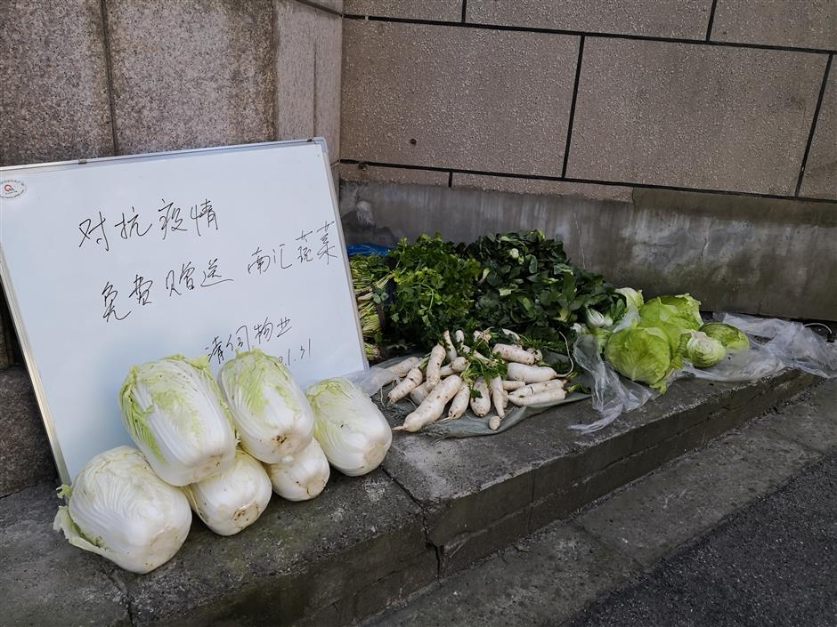 Vegetable saviors feed the people by express delivery