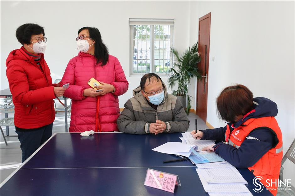 Mask registrations take place across the city