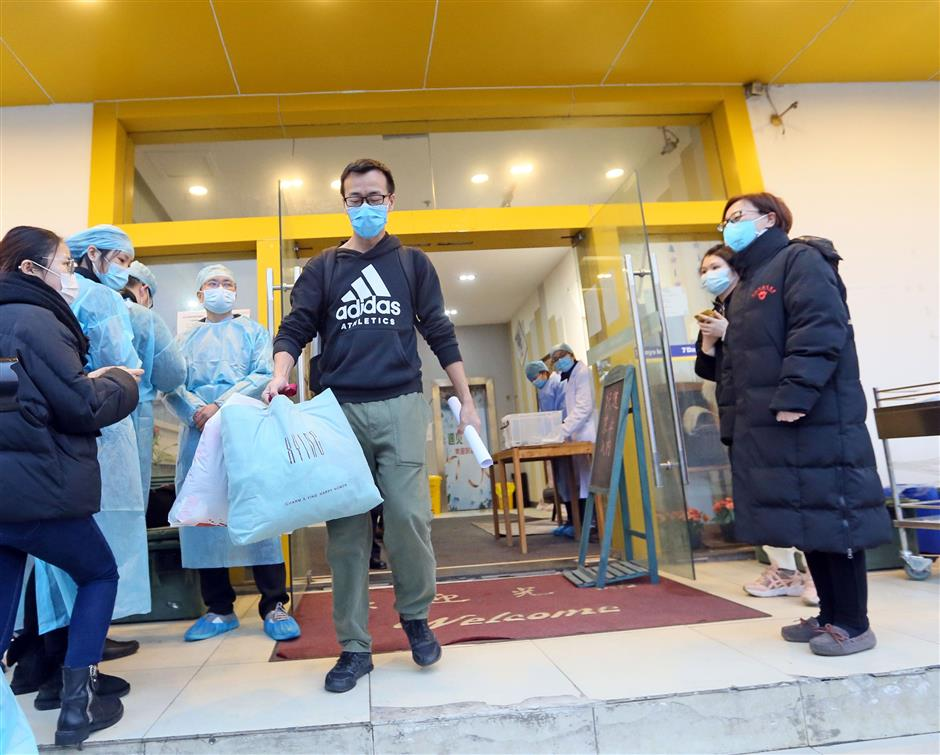 136 people discharged from isolation in Songjiang