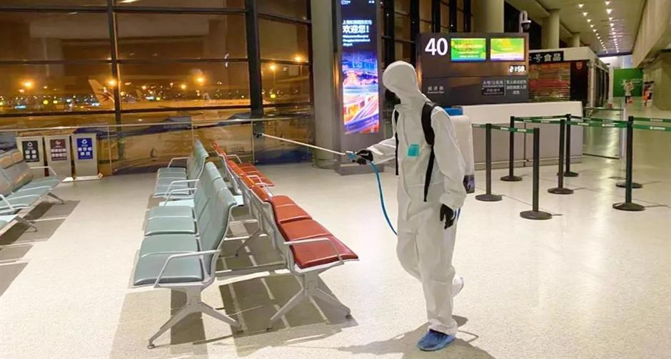 City airports roll out intensive disinfection measures