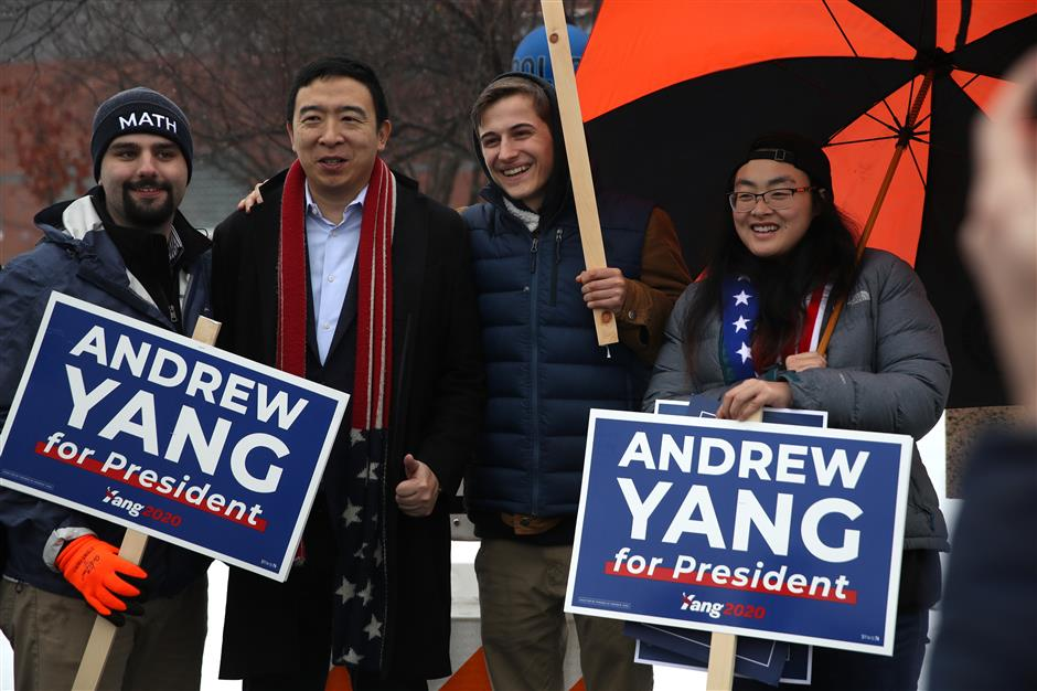Yang announces withdrawal from Democratic presidential race