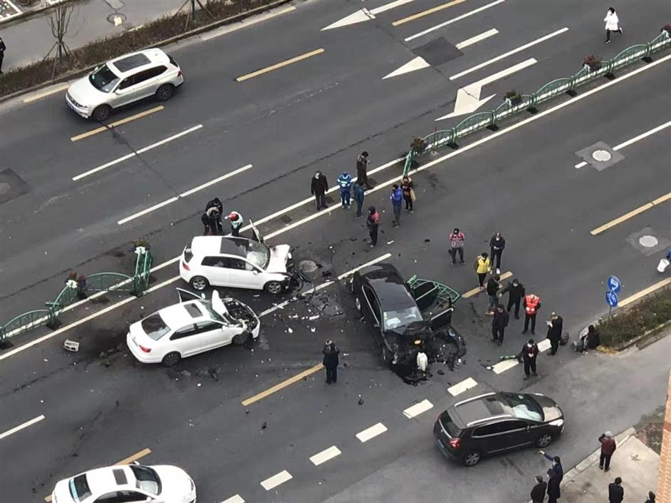 4 injured after car driver loses control