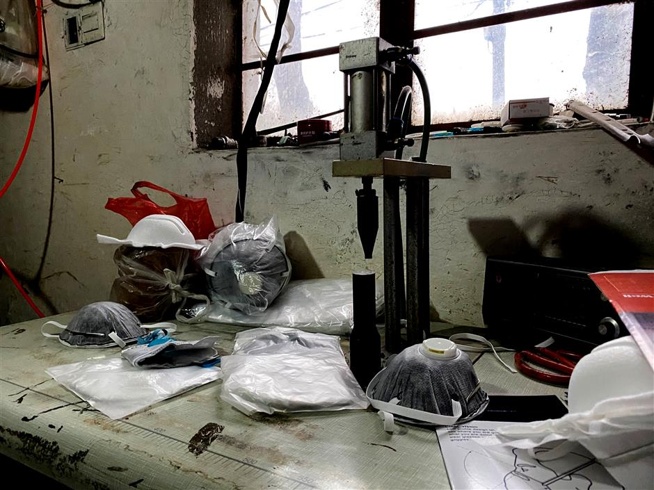 Gang taken down for producing counterfeit masks
