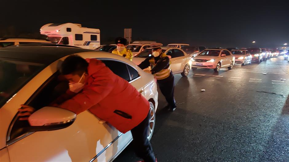 Checkpoint staff brave harsh conditions while keeping city safe