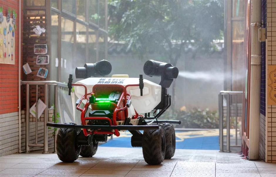 Robot vehicles to help in fighting virus