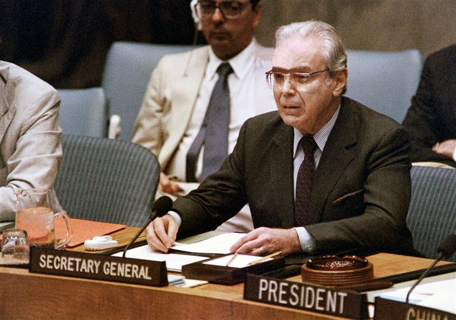 Former United Nations chief Perez de Cuellar dies