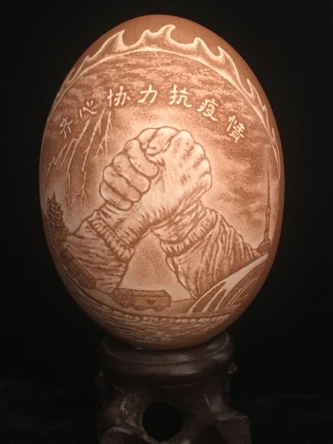 As the nation walks on eggshells amid virus, an artisan carves them