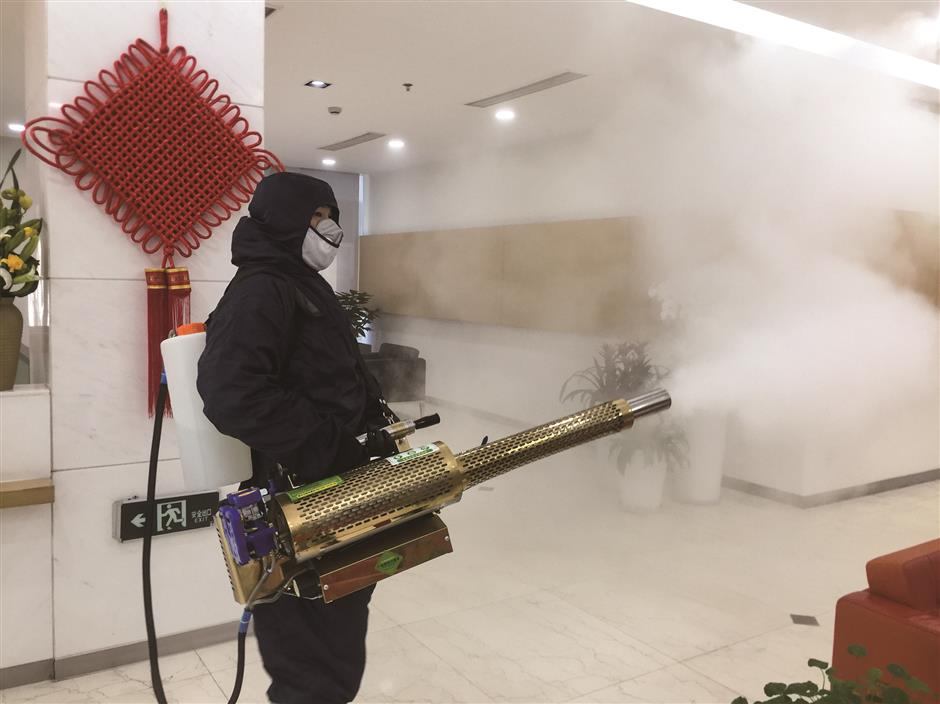 Firms using new high-power disinfection sprayer