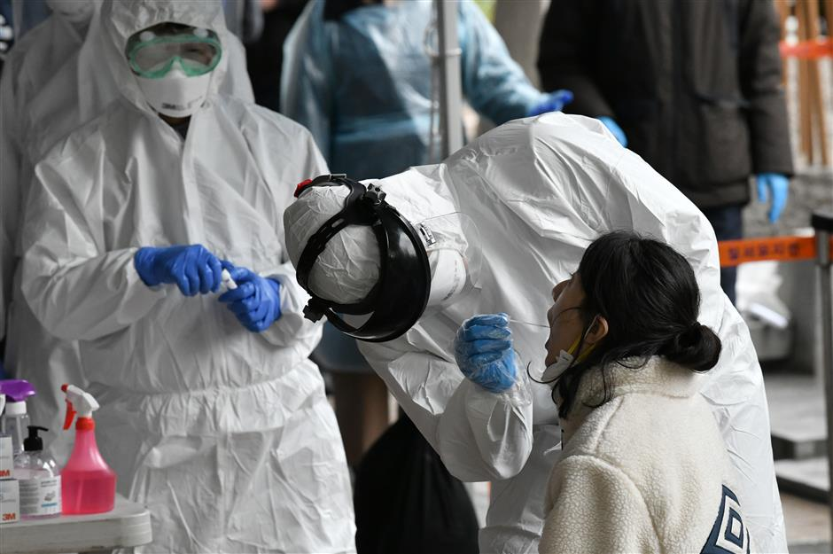 South Korea reports jump in coronavirus cases