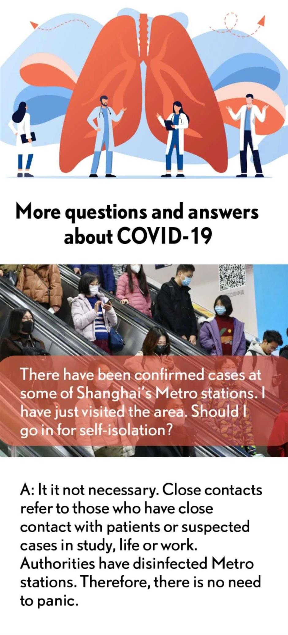 More questions and answers about COVID-19