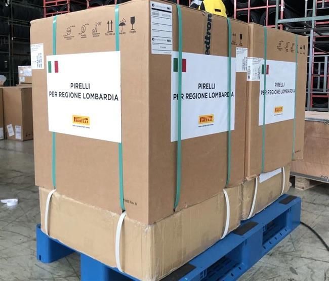 Pirelli and Chinese partners donate to Italian hospitals