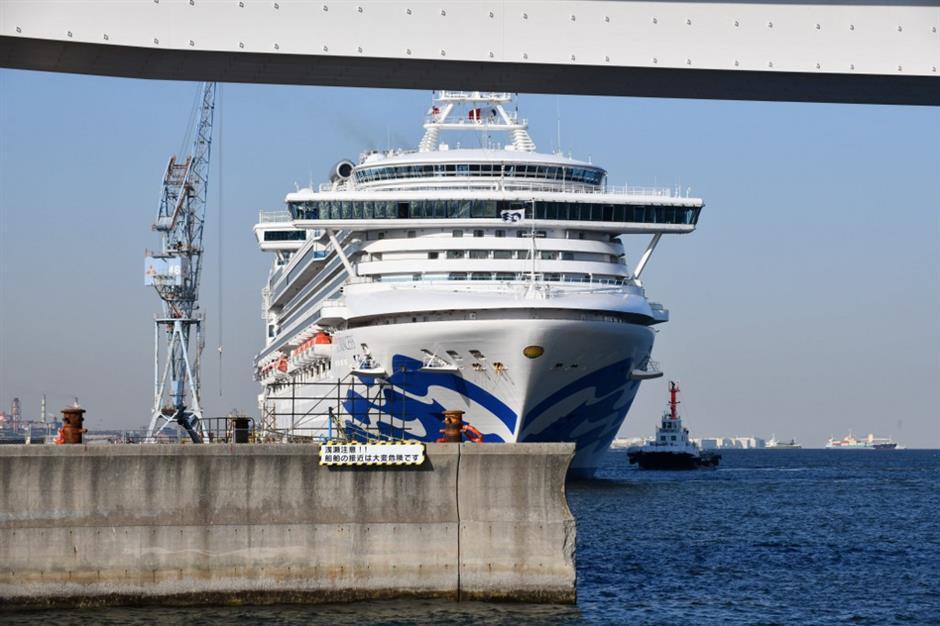 Virus-stricken Diamond Princess leaves Yokohama