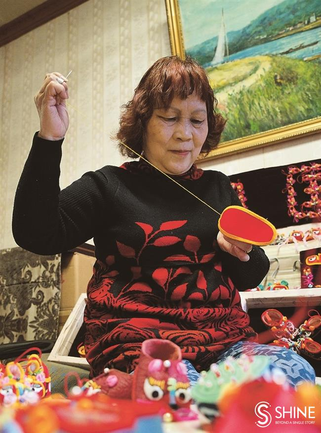 Fancy footwork: An embroiderer finds her niche