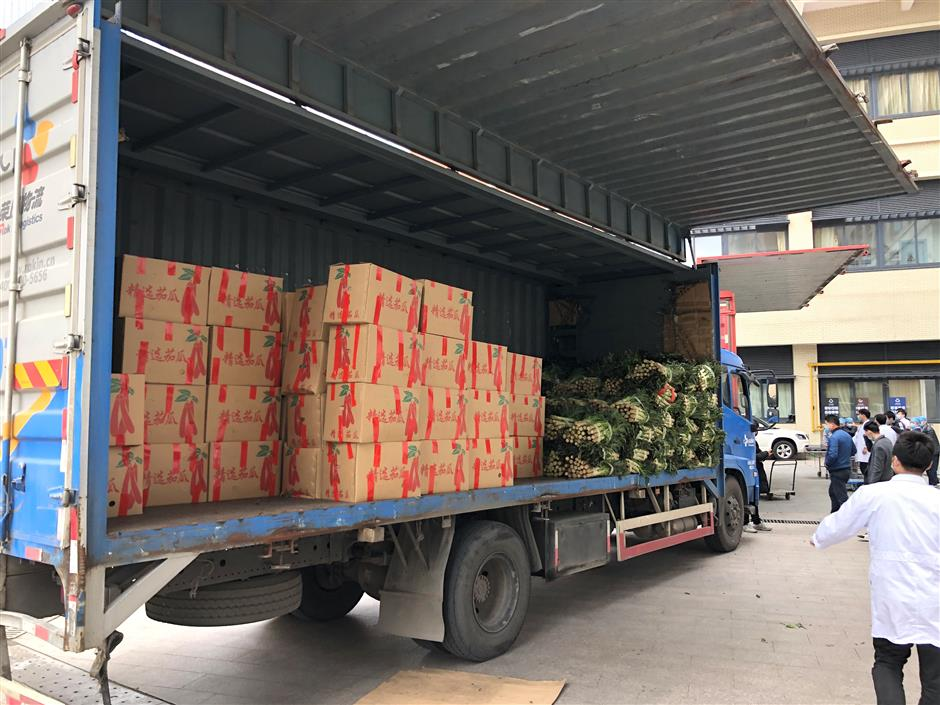 Hospitals thanked with gift of vegetables
