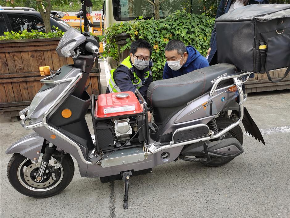 Man detained for refitting e-bike with generator
