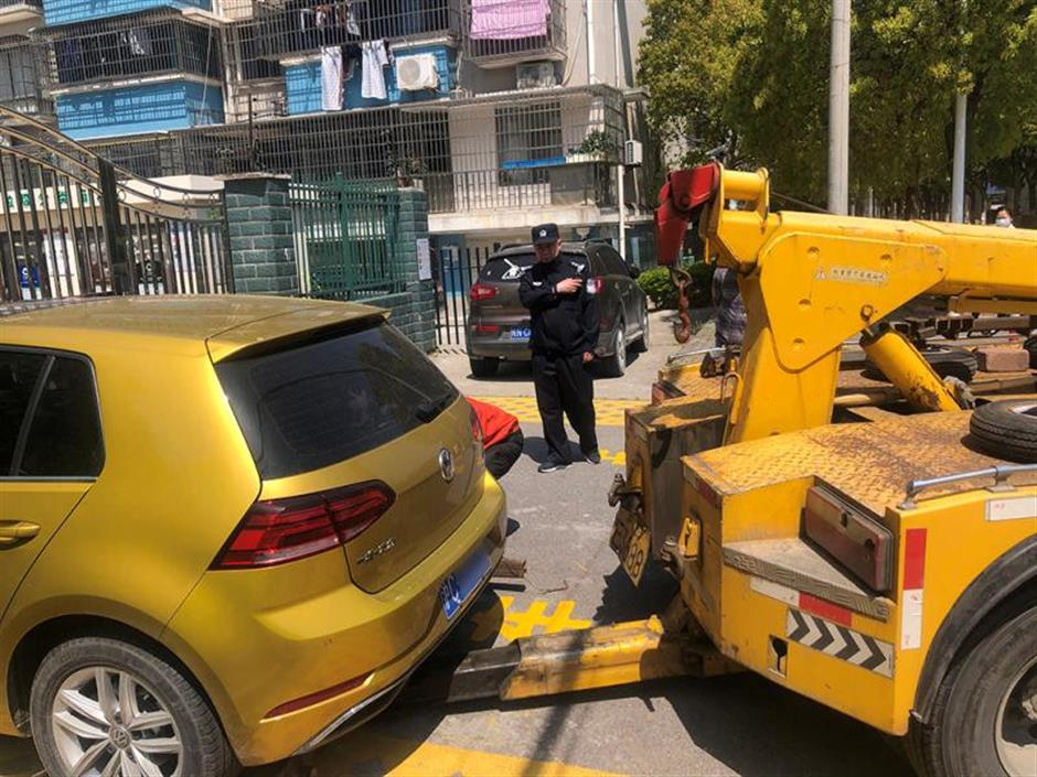 'Missing' car towed for blocking fire passage