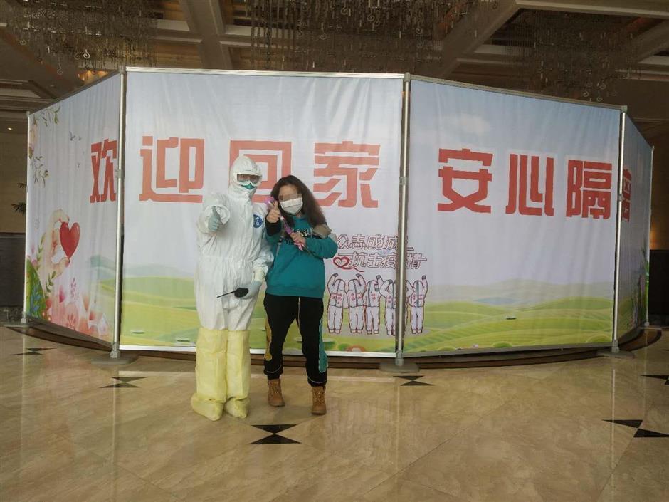 Overseas arrivals complete quarantine at welcomingPutuo hotel