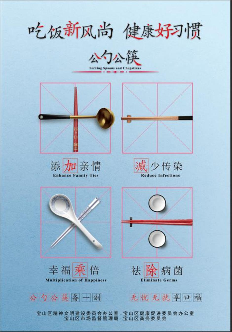 Serving utensils distributed among popular Baoshan restaurants