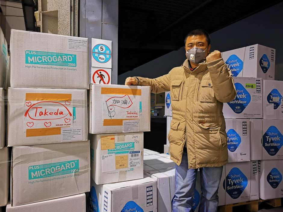 Takeda China offers cash, medical supplies to help fight pandemic