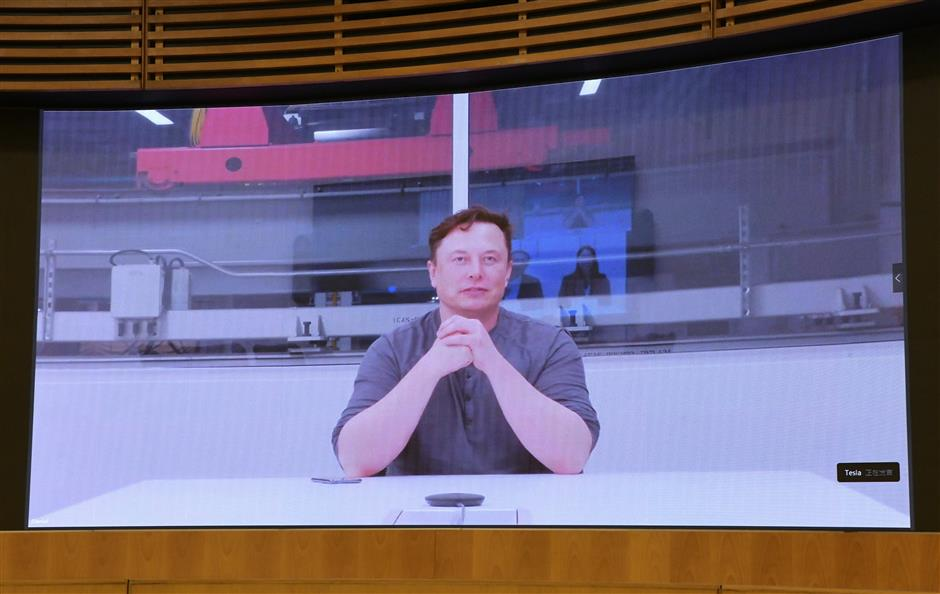 Shanghai Party chief,  Tesla CEO have video call on business layout, localization and further cooperation
