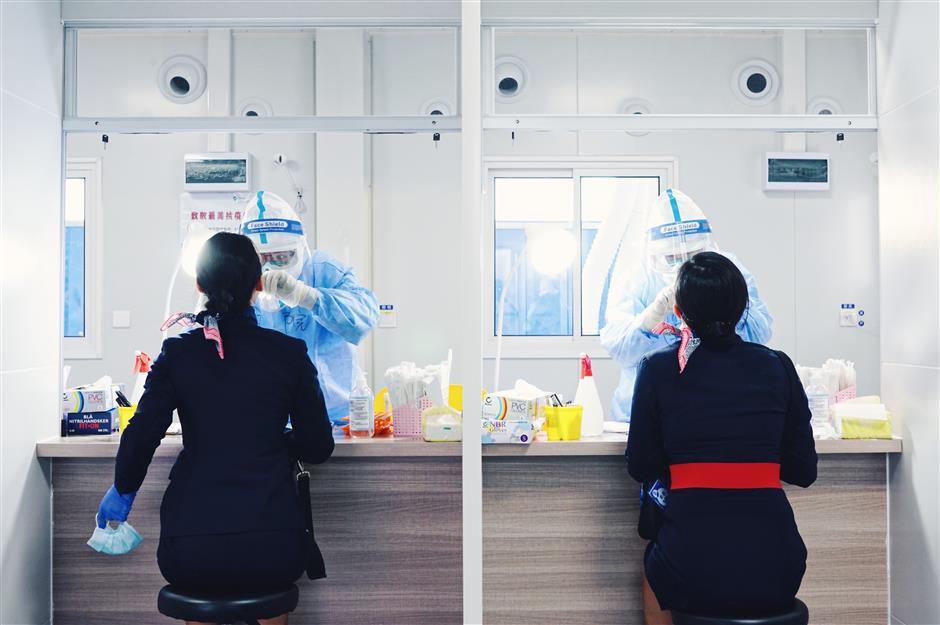 Sampling rooms established at Pudong airport
