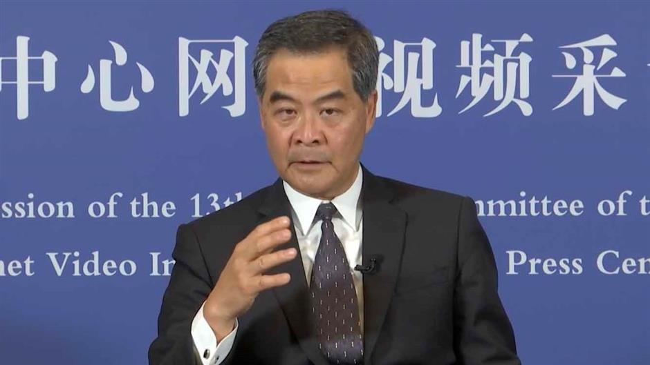 Leung Chun-ying: Introduction of HK security bill 'fully necessary'