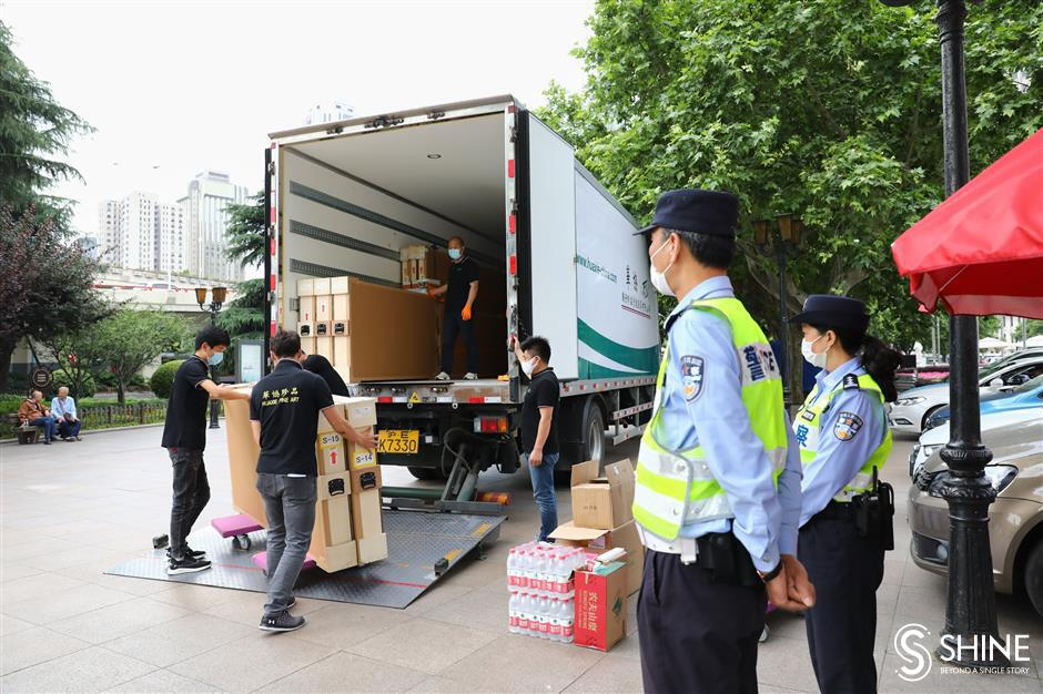 Police escort for precious relics from Japan