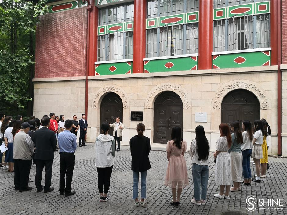 Liberation lecture for Shanghai students