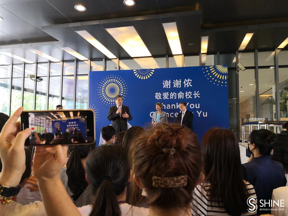 Tributes as NYU Shanghai chancellor retires