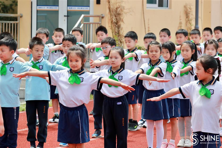 Shanghai's youngest students return to school