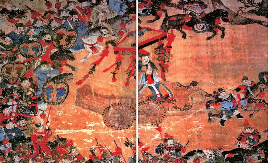 Mural depicts God of Taishan