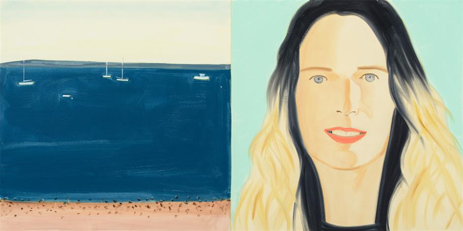 Cutout installation highlight of Alex Katz solo show