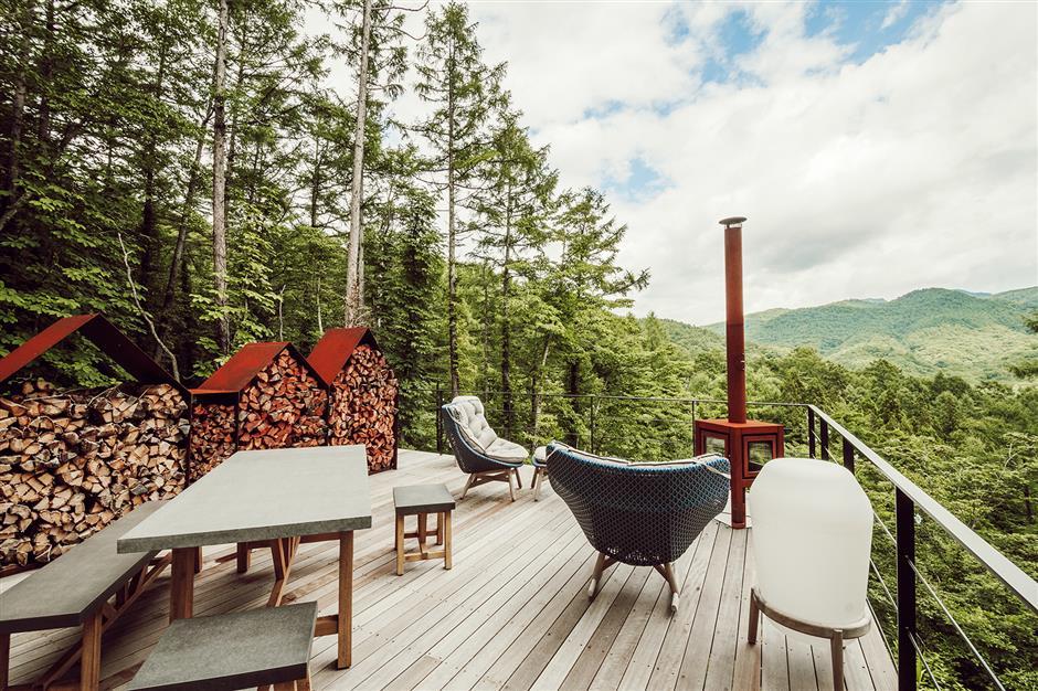Spiritual mountain haven of tranquil calm