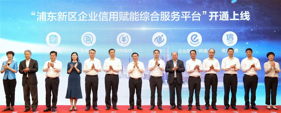 Pudong improves credit environment to stabilize market and boost the economy