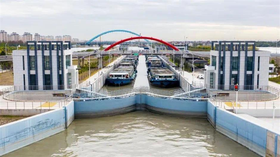 Dazhi River West Hub ship lock opens Monday