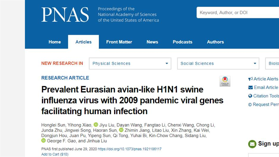 New swine flu strain with 'pandemic potential' discovered in China
