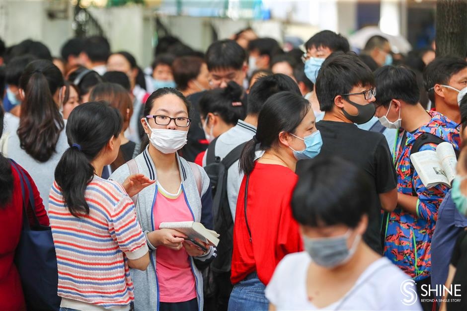 College entrance exams begin in Shanghai
