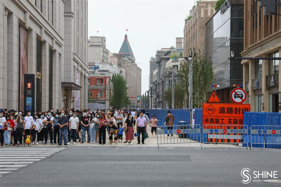 World-class shopping street nears completion