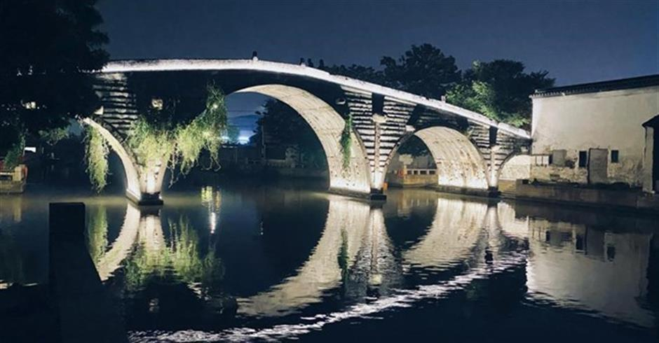 New look for old bridge as lights are turned on