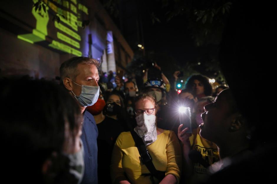 Portland's mayor tear-gassed at race rally