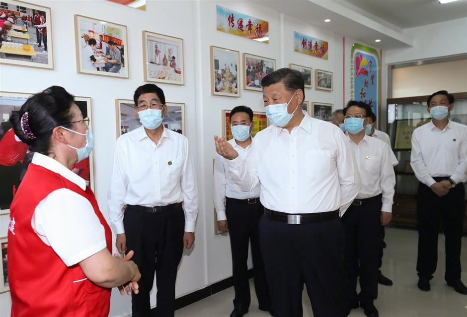 Xi emphasizes stronger CPC leadership for improving efficacy of community governance