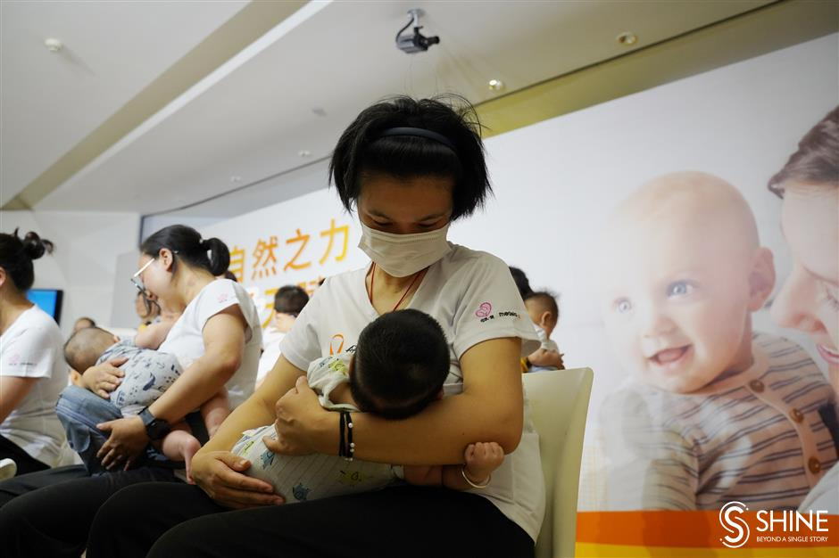 Young mothers' flash mob promotes breastfeeding