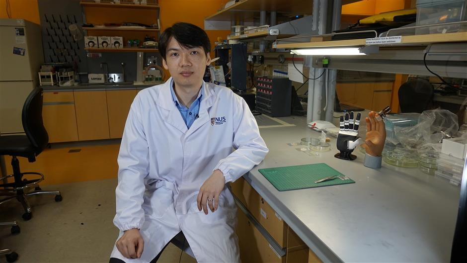 Singapore team creates artificial skin with 'feel'