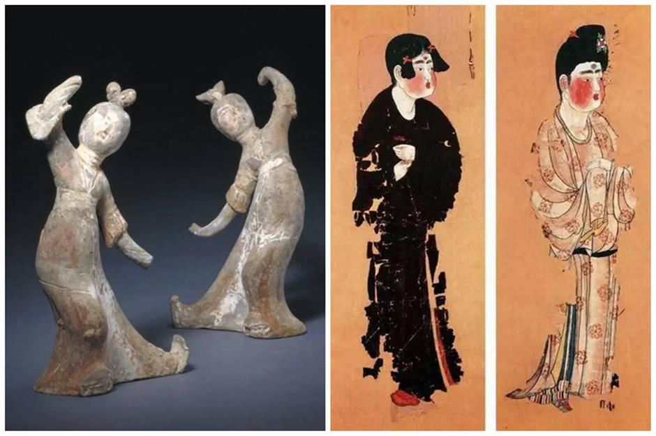 In step with the sculptures of antiquity
