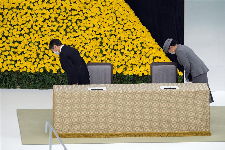 Japan marks 75th anniversary of WWII surrender with emperor expressing deep remorse over wartime acts