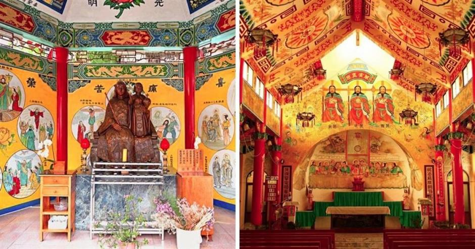 Discover Chinese version of Last Supper in a Taiwan church