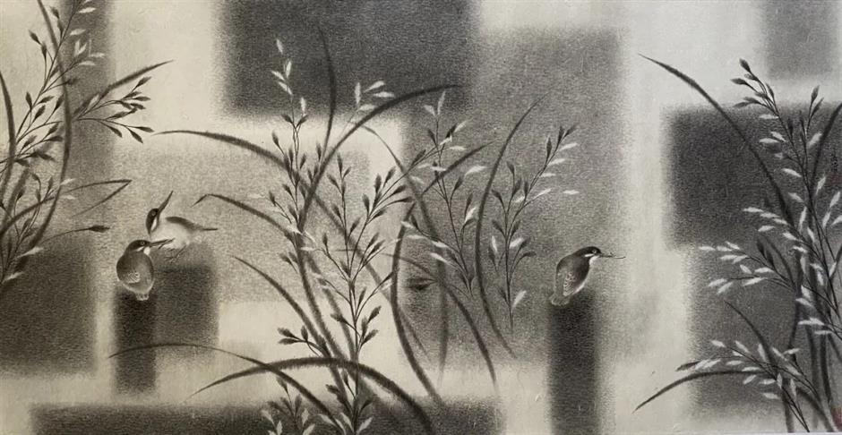 Traditional Chinese bird-and-flower art with a modern twist