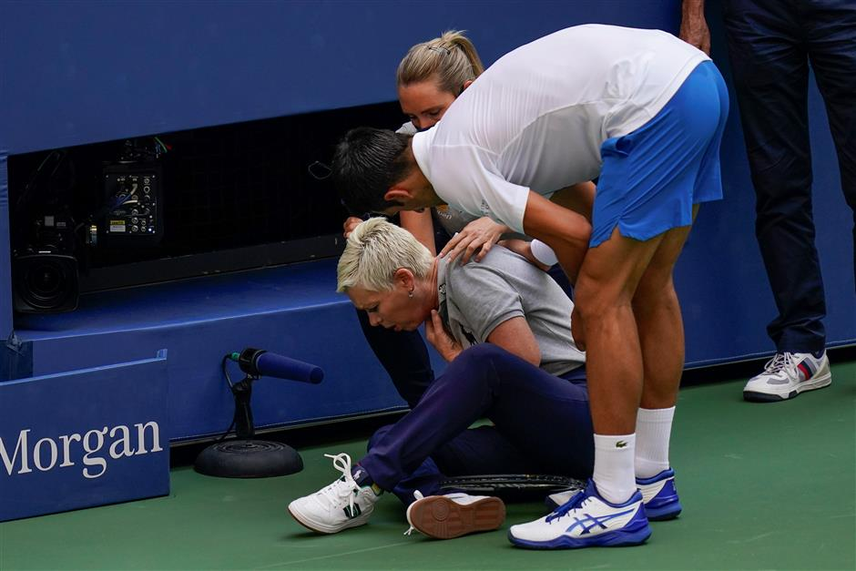 So unintended. So wrong, Djokovic disqualified from US Open